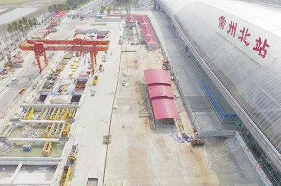 Цзянсу, построенного Четвертой корпорацией Китайской железной дороги.