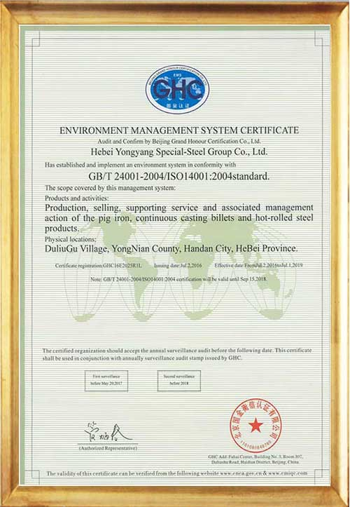 Сертификат Системы Управления Окружающей Средой